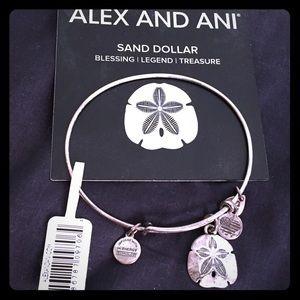 Alex and Ani Sand Dollar Bracelet
